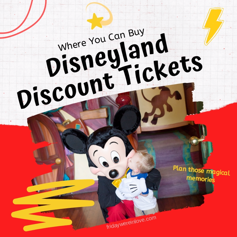 All the details of where to find and buy disneyland discount tickets.  #disneyland #moneysavers #disneyvacation