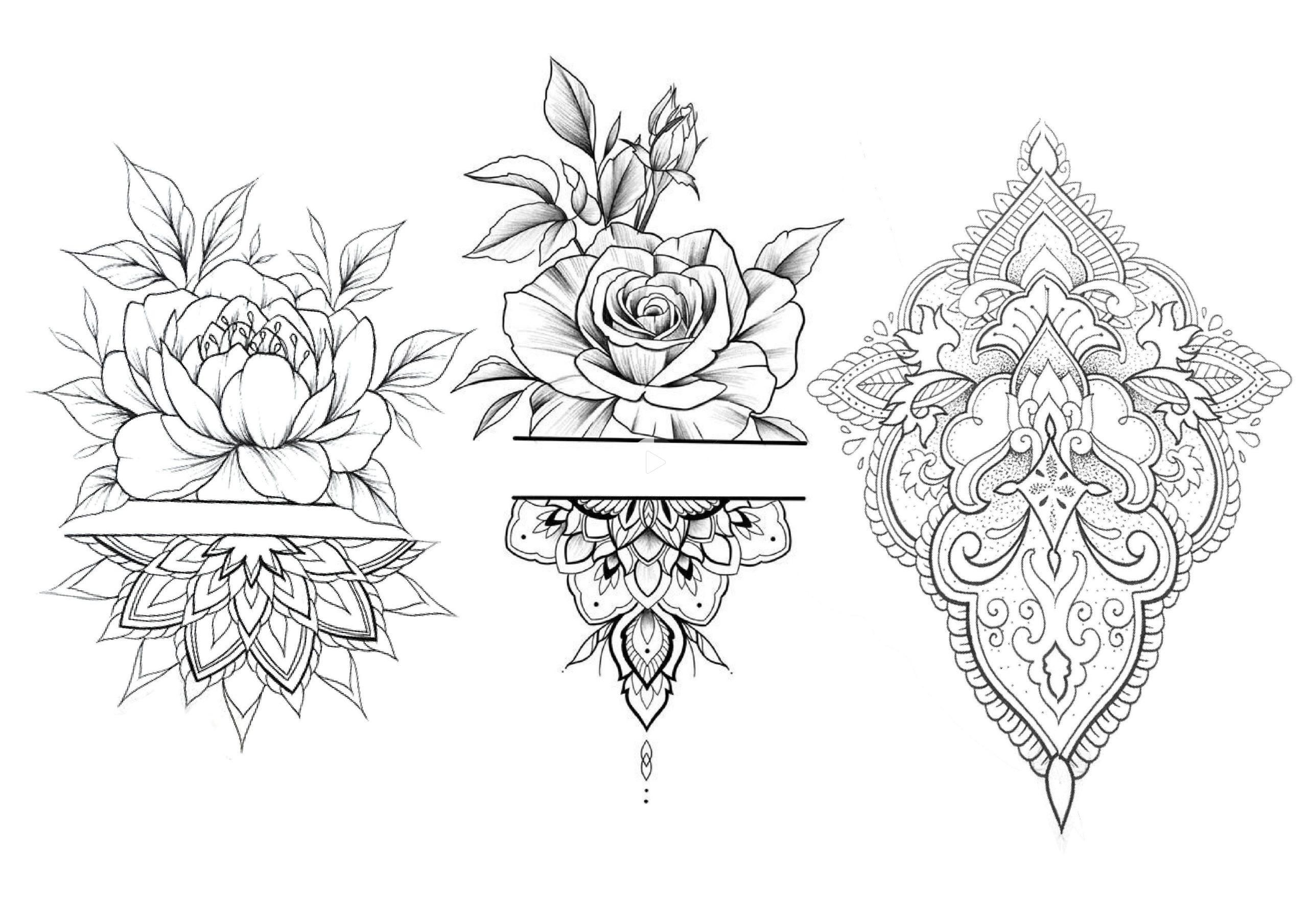 47+ Dessin tatouage mandala femme trends