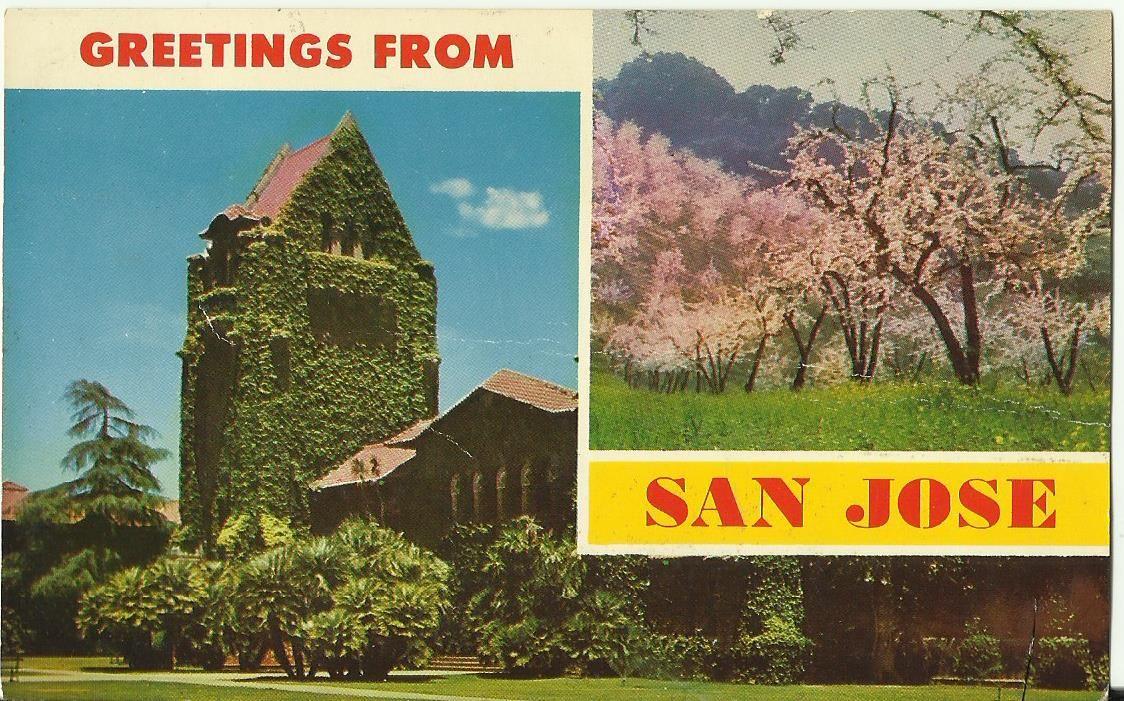 74Greetings from San Jose, California. My Trip Starting on