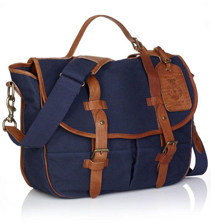 3009d1fcbfe Polo Ralph Lauren Canvas Messenger Bag   Men bags   Bags, Canvas ...