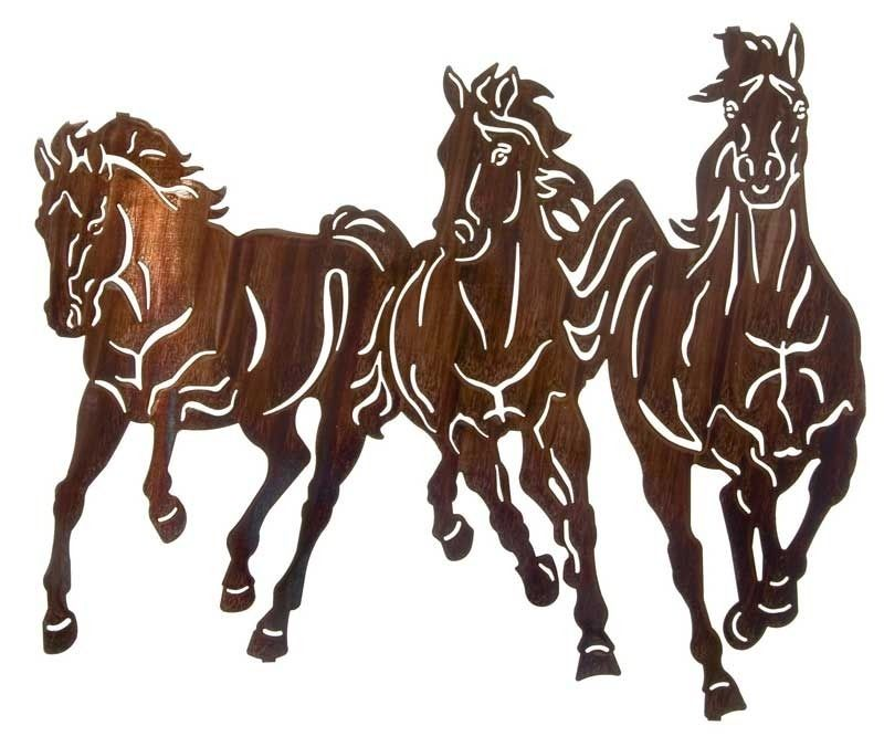 Thunderstorm II ( Running Horses ) Laser Cut Steel | 22"