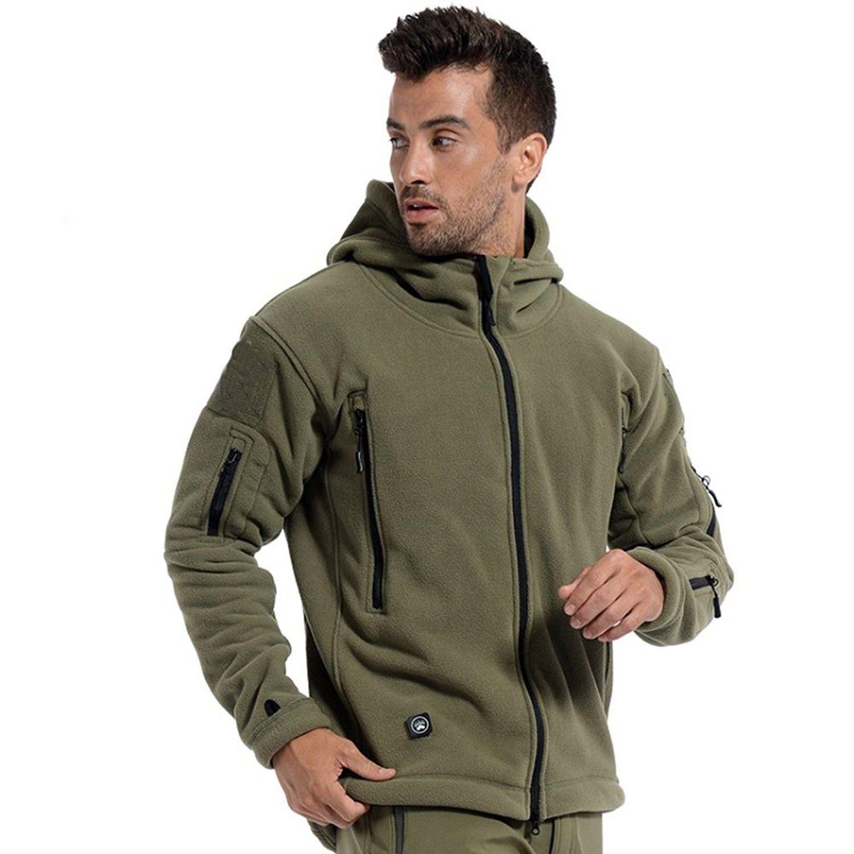 Men S Windproof Warm Military Tactical Fleece Jacket Army Green C512nu15m5p Tactical Jacket Fleece Hoodie Jacket Winter Jacket Men [ 1500 x 1500 Pixel ]