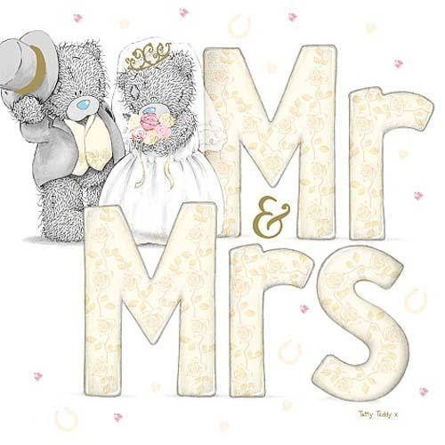 Rótulo Mr. and Mrs. de los Ositos Me to You para Imprimir Gratis.