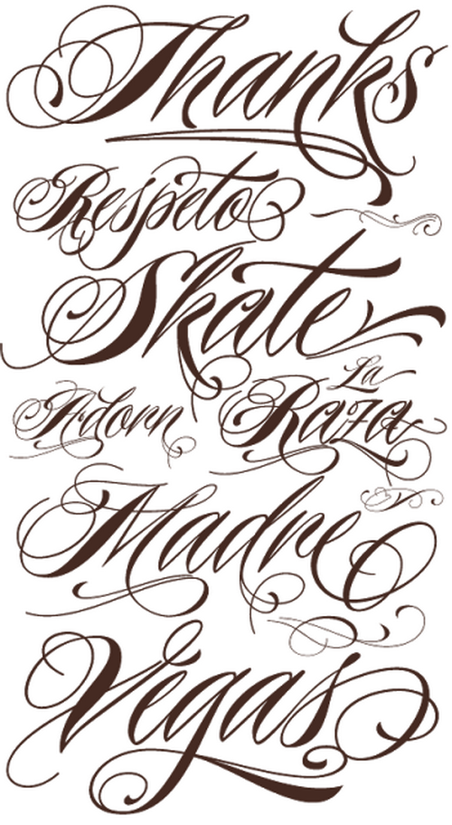 1000+ images about Tattoo Fonts on Pinterest | Calligraphy ...