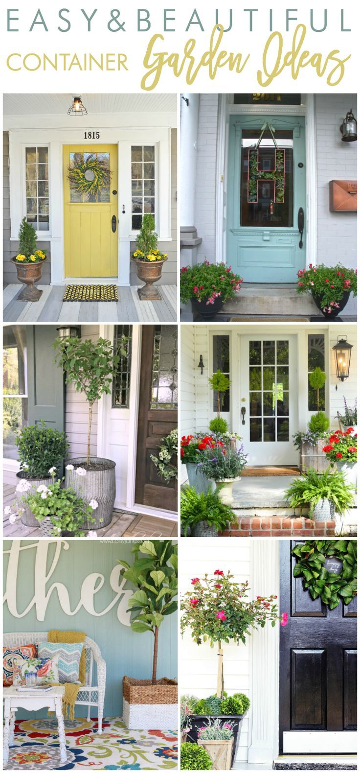 Wondering What Plants And Flowers To Choose Style Your Front Porch Container Planters This Year Here Are Some Easy Beautiful Garden Ideas