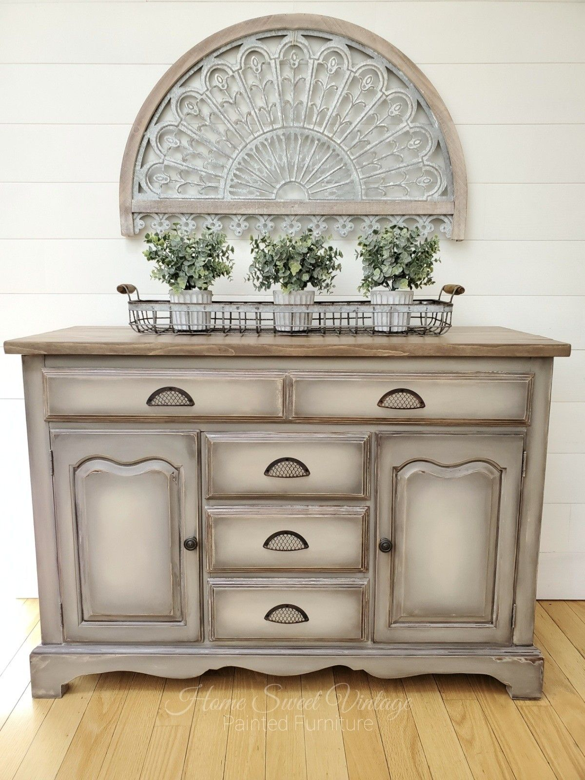 Farmhouse Buffet Finished In Annie Sloan Chalk Paint Coco French Li Furniture Vintage Painted