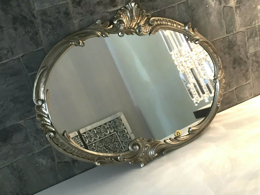 Wandspiegel Barock Oval Antik Silber 52x42 Badspiegel Vintage Ovaler Spiegel Kaufen Bei Pintici Keskin Export Badspiegel Ovaler Spiegel Barock Spiegel