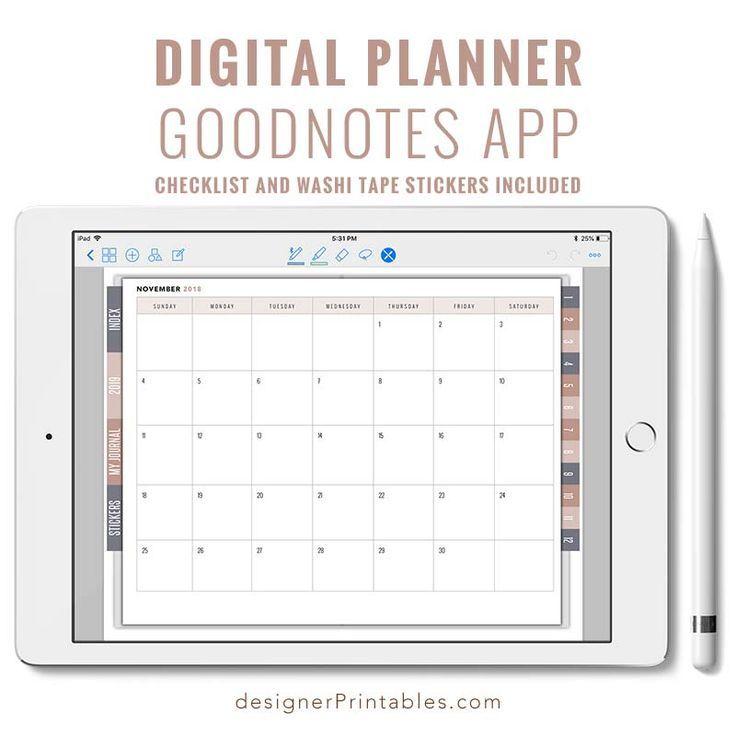 2020 Digital Planner (GoodNotes App + PDF) Bullet