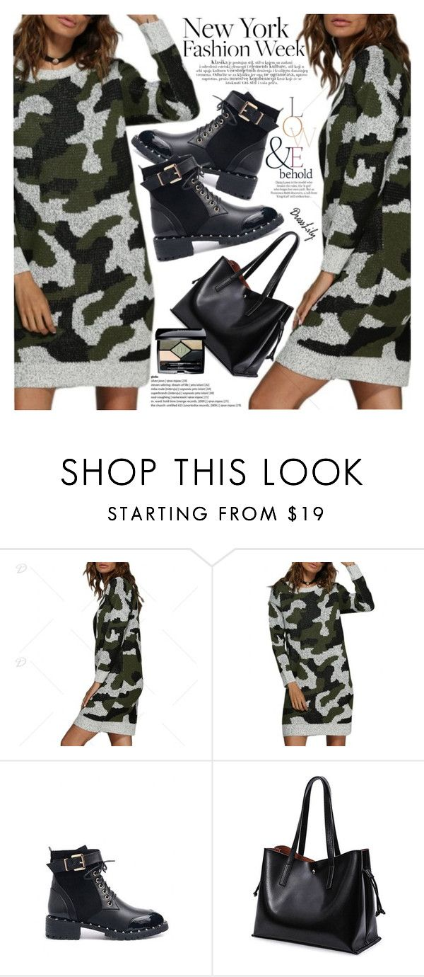 """""""Military"""" by vanjazivadinovic ❤ liked on Polyvore featuring ASOS, Christian Dior, dresslily and polyvoreeditorial"""