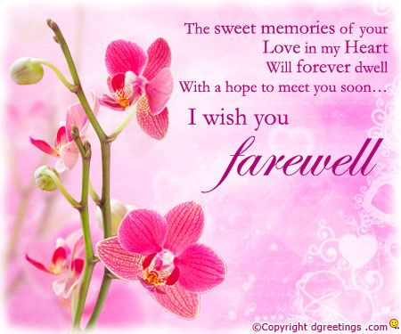 Warm farewell wishes farewell cards pinterest farewell warm farewell wishes m4hsunfo
