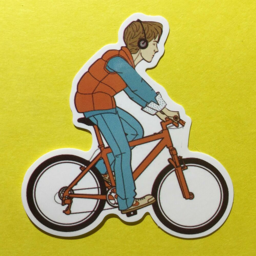 Back To The Future Marty Mcfly On A Bike Bicycle Skateboard Laptop