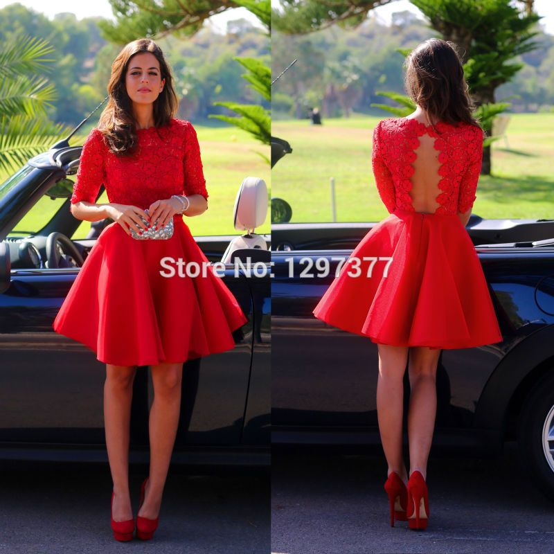 Imagens de vestido vermelho curto
