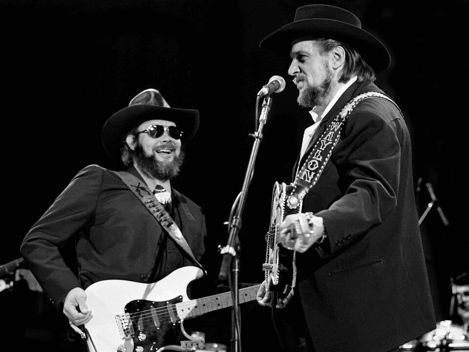 5c03df1d50157 Hank Jr   Waylon Jennings performing during one of the three Inaugural  Balls held at the Opryland Hotel on January 17