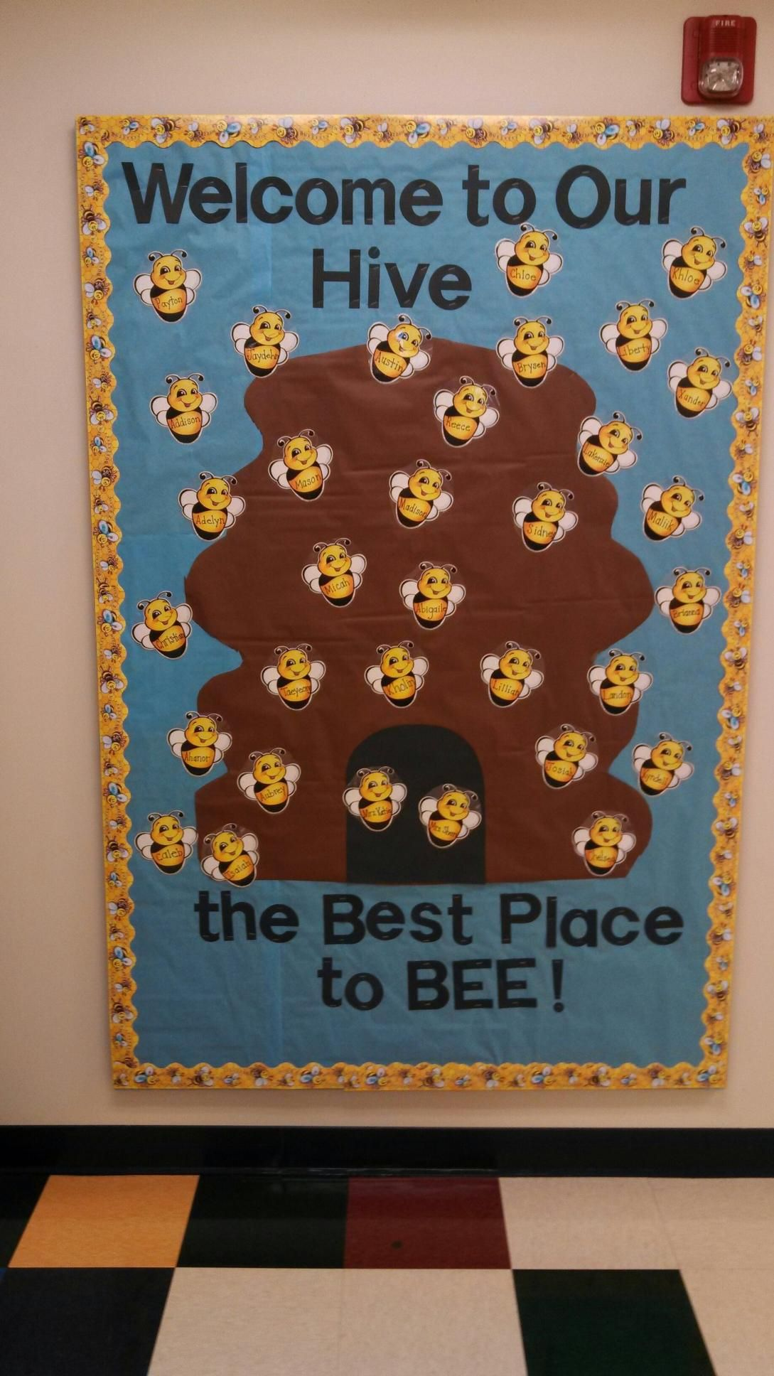 Busy Bee Room Preschool Prek Bulletin Board Hive