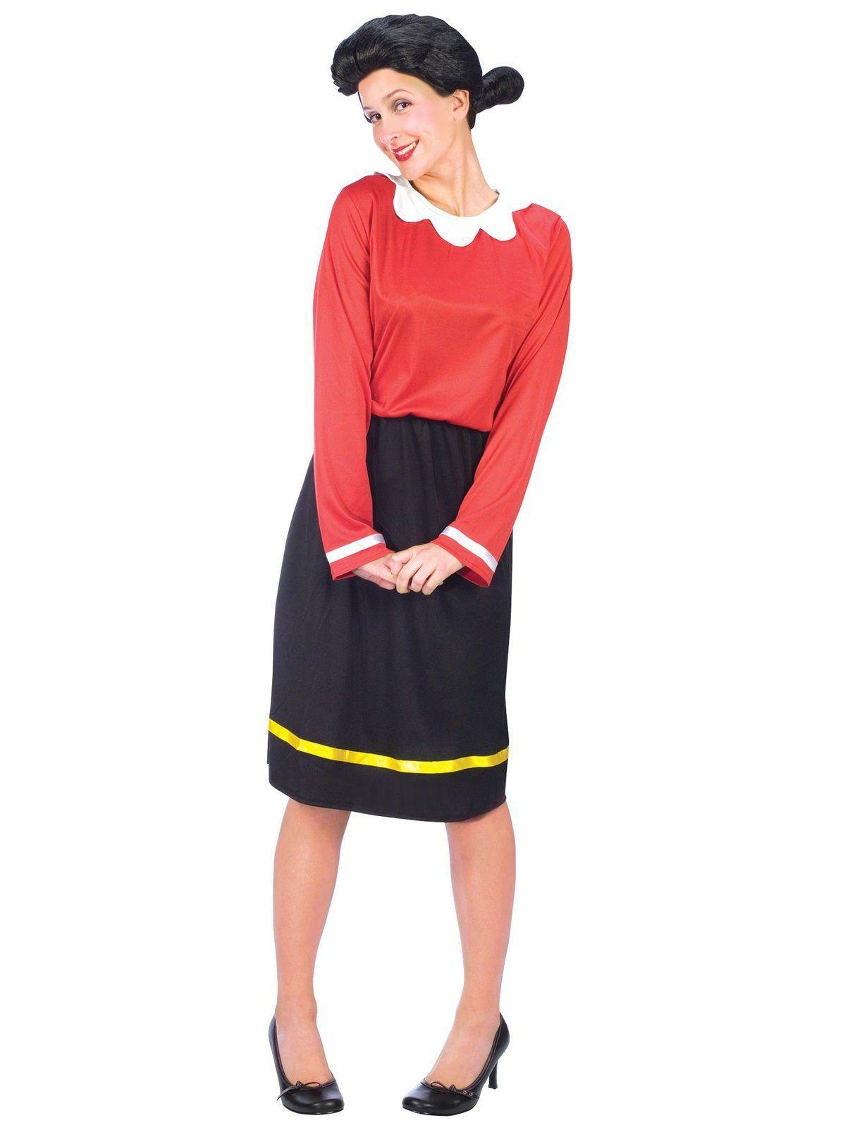 Women Olive Oyl Popeye Halloween Fancy Dress Costume Halloween Party Outfits