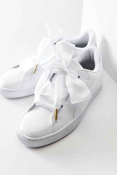 Puma Basket Heart Patent Leather Sneaker | Sko, Støvler og