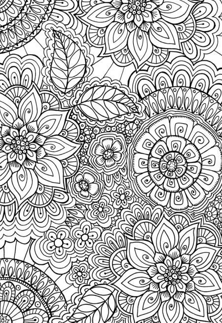 detailed coloring page for adults