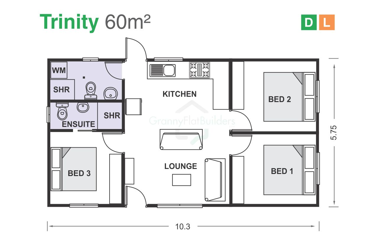 Before | Granny flat plans, Granny flat, Flat plan