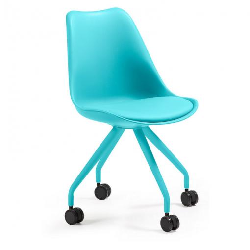 Silla oficina con ruedas Lars Epoxy azul C975U26 | Sillas de oficina ...