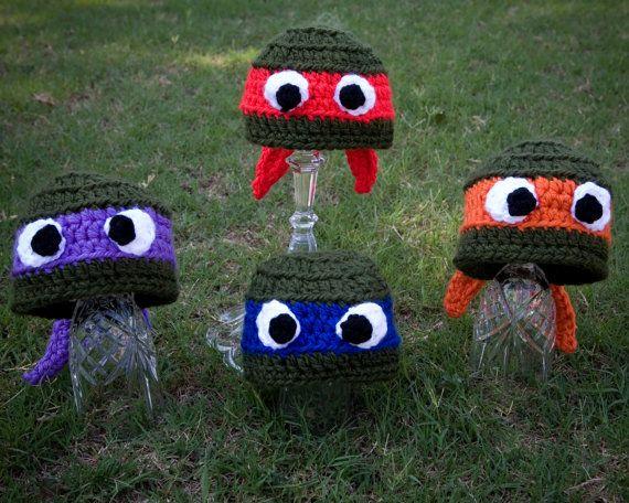 Ninja Turtle Hat Crochet Pattern, Ninja Turtle Baby Hat, Toboggan ...
