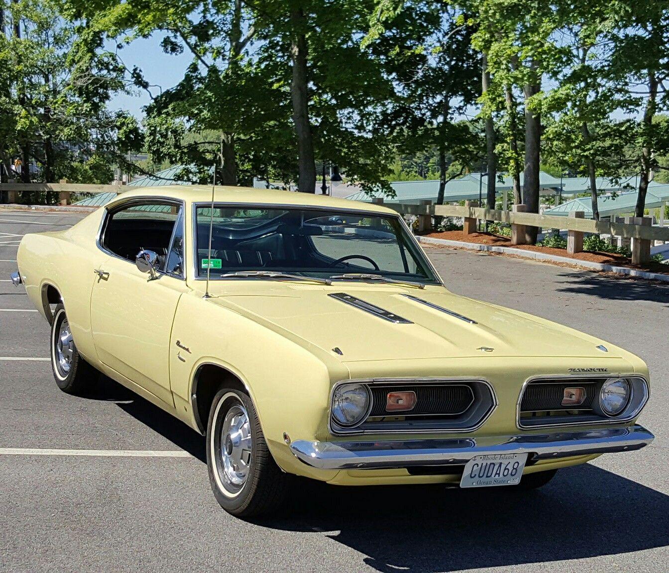 1968 Plymouth Barracuda, 225 Slant,6, Sunfire Yellow
