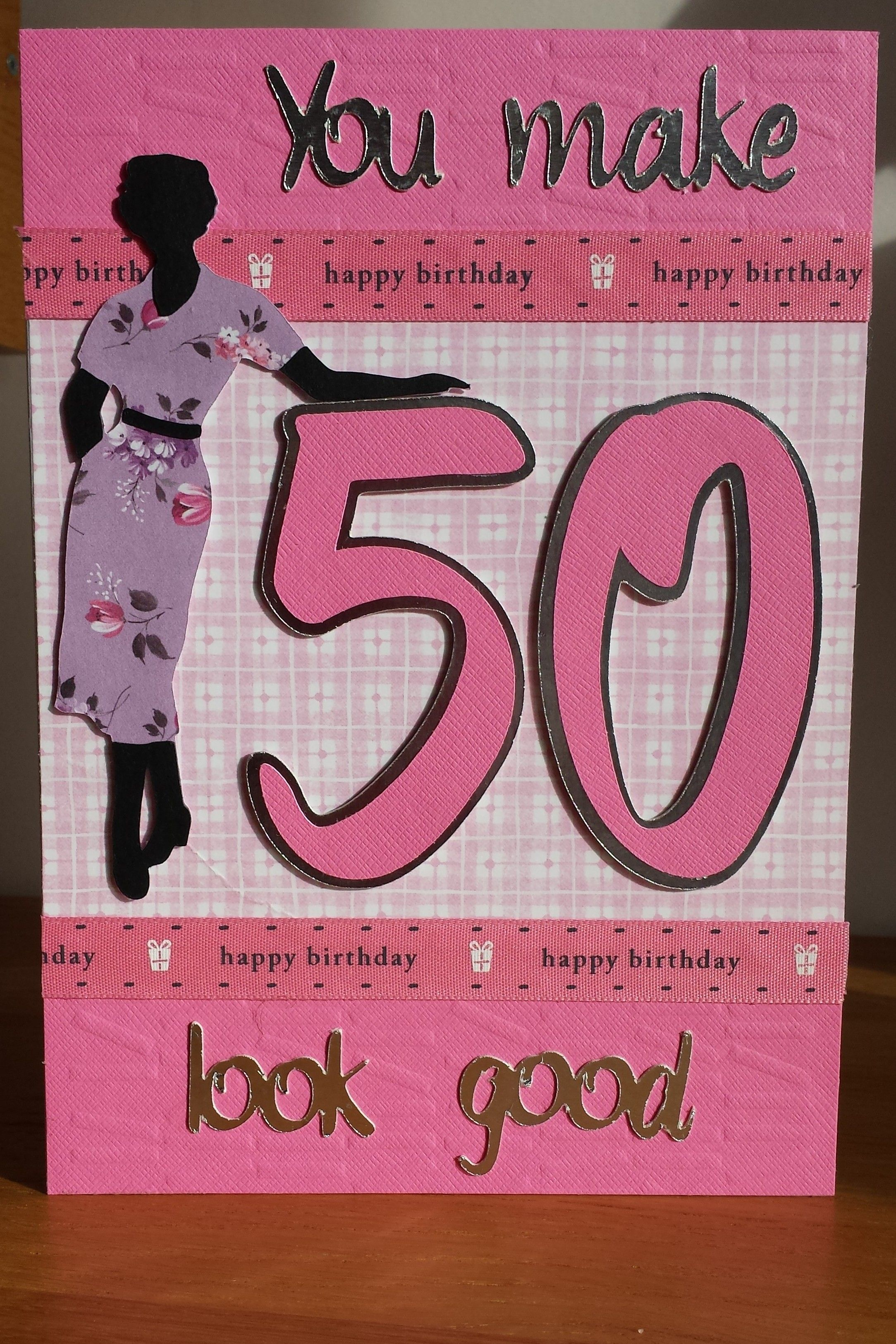 Cricut suburbia 50th birthday card Cricut birthday cards