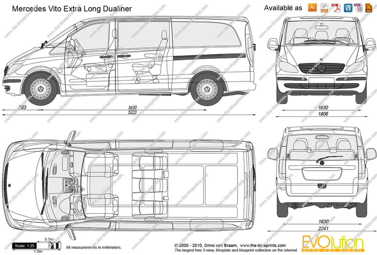 Dimension Mercedes Vito Utilitaire 1 In 2021 Mercedes Benz Vito Volkswagen Multivan Mercedes Benz Viano