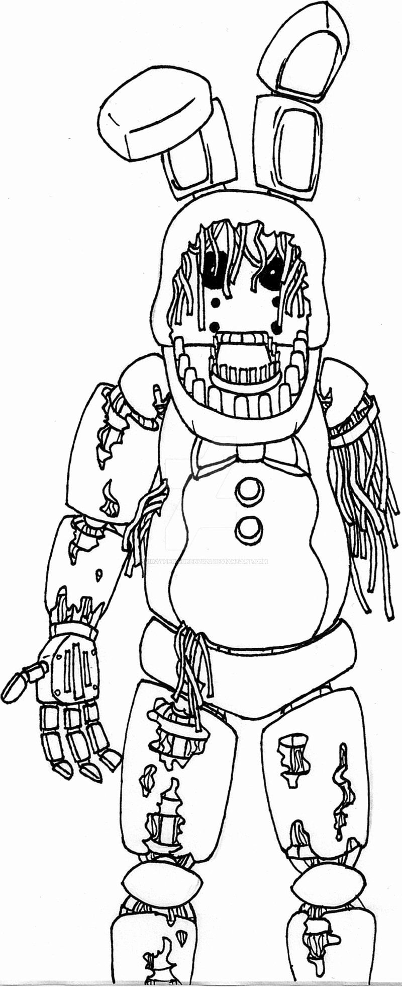 Fnaf Coloring Pages Withered Bonnie : coloring, pages, withered, bonnie, Spring, Bonnie, Coloring, Pages, Awesome, Withered, Chicathechicken7020, Deviantart, Pages,, Printable