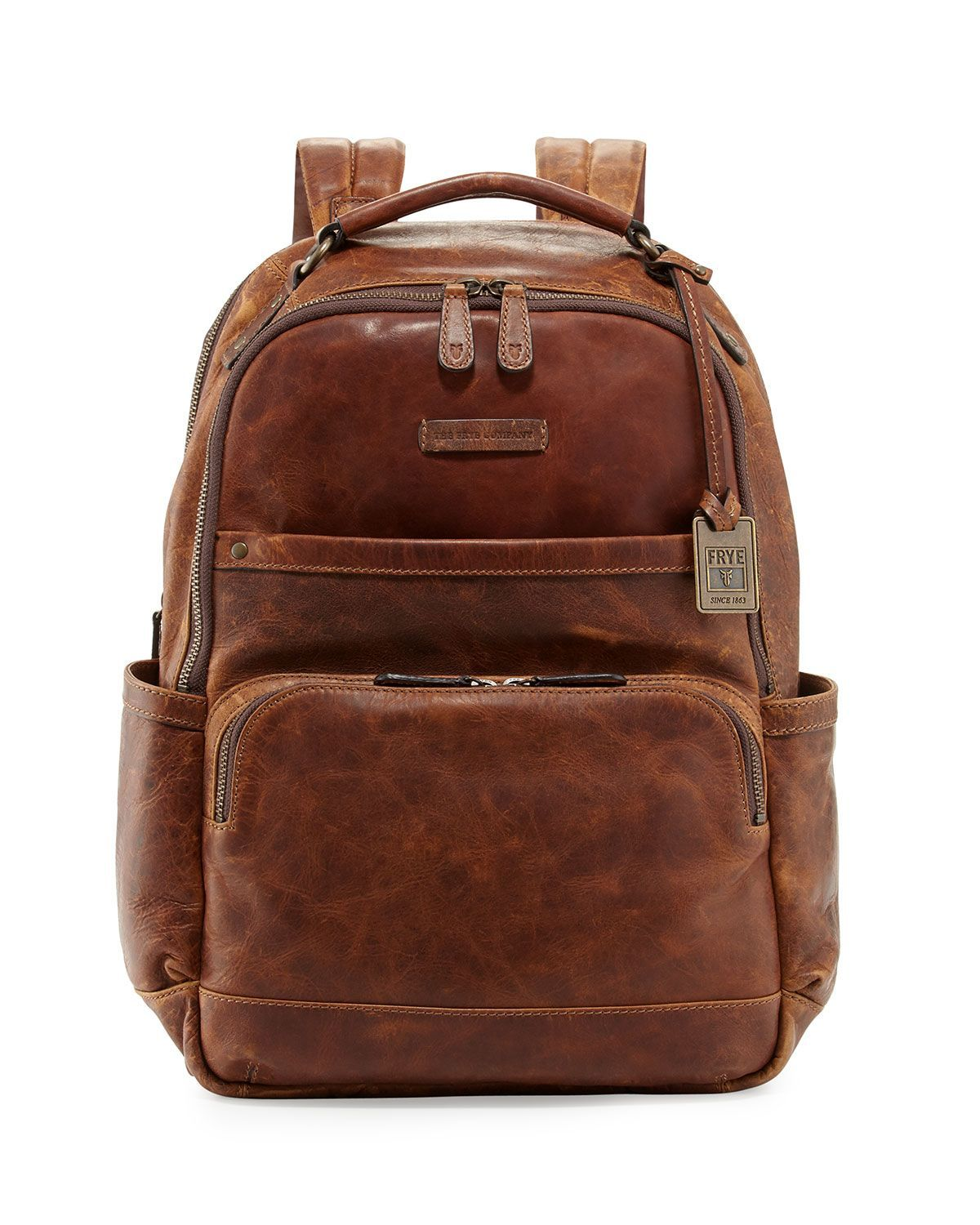 d3d5ad85010f Logan Men s Pull-Up Leather Backpack