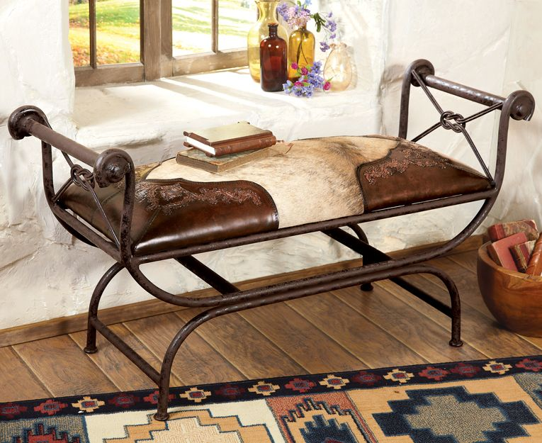 Leather Covered Bench