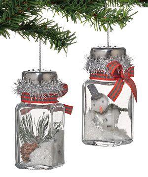 Photo of Mira esto #zulilyfind! Winter's Lodge Salt Shaker Ornament Set de Winter's Lo …