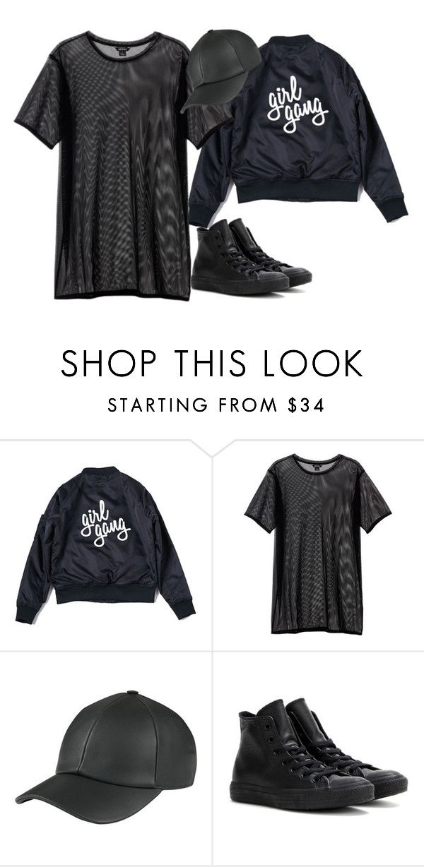 """Untitled #284"" by dreamer3108 on Polyvore featuring Monki and Converse"