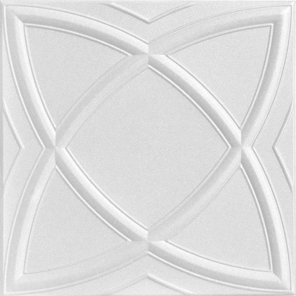 A La Maison Ceilings Elliptic Illusion 16 Ft X 16 Ft Foam Glue
