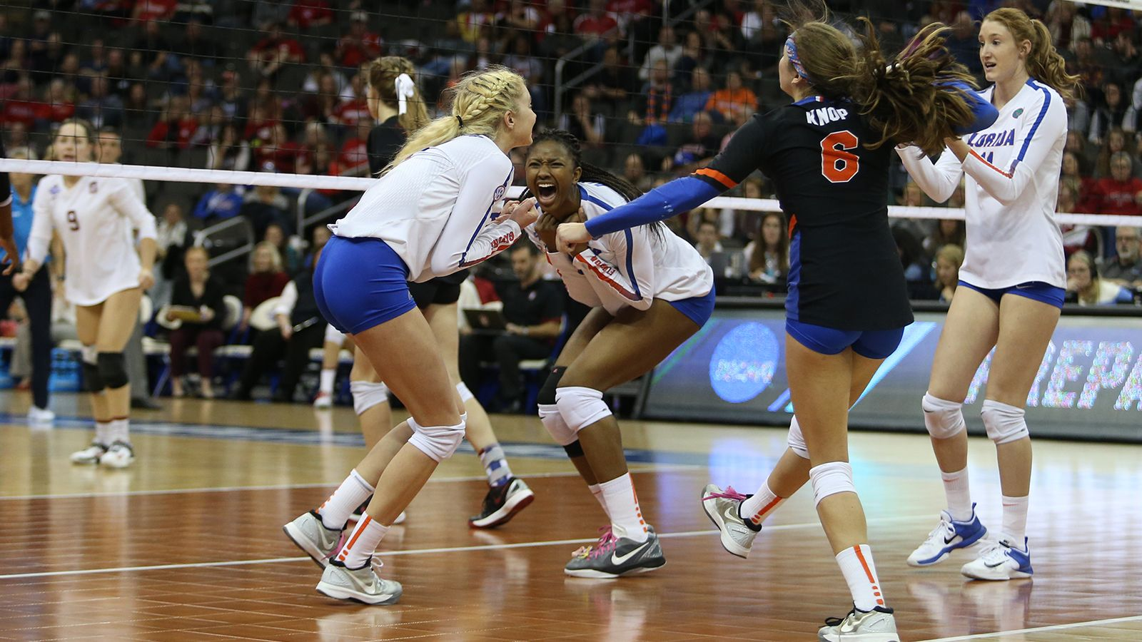 Gators Fend Off Stanford Advance To Ncaa Championship Florida Gators Female Volleyball Players Ncaa Championship Volleyball Shirts