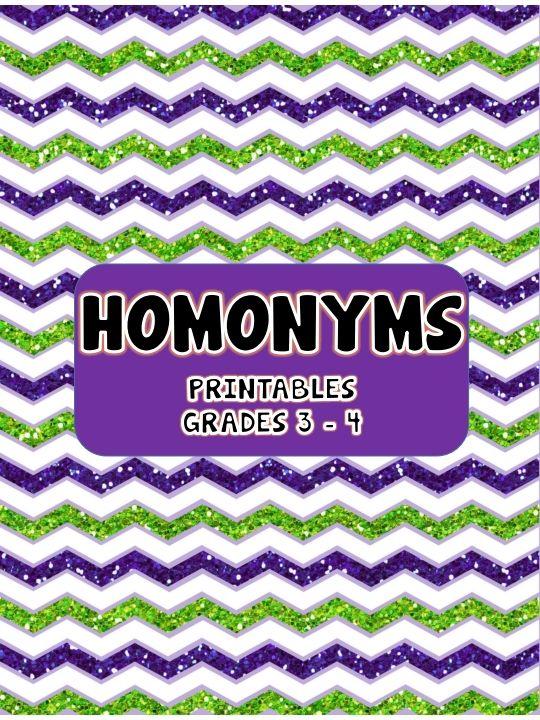 Homophones Printables