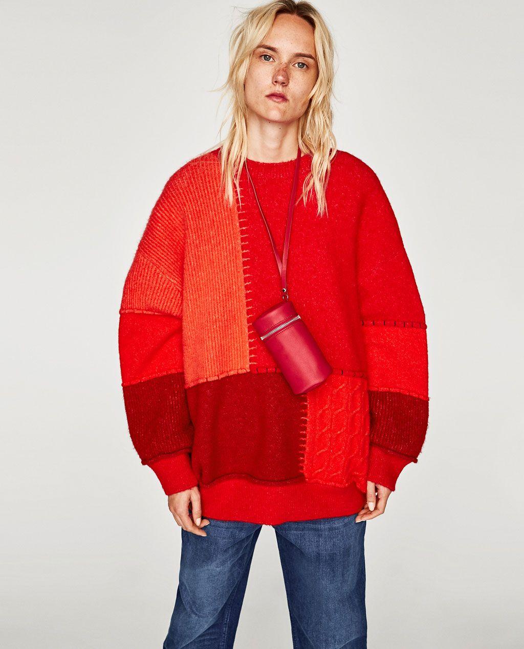 Imagen 4 de JERSEY PATCHWORK de Zara | /moda/models/make ...