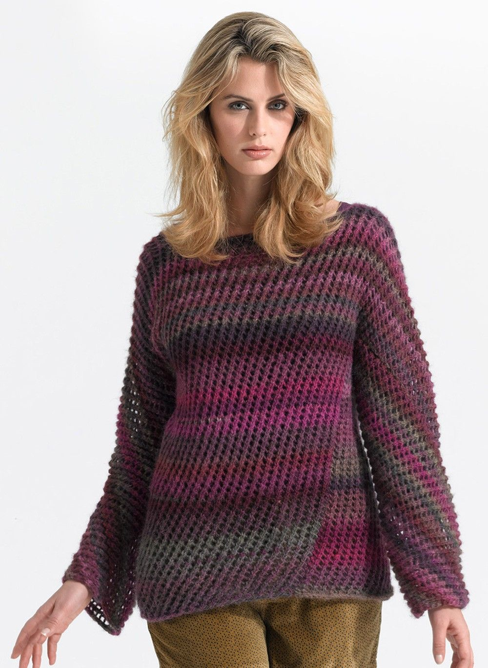 Diagonal Lace Pullover Pattern (Knit) | knitting and crochet ...