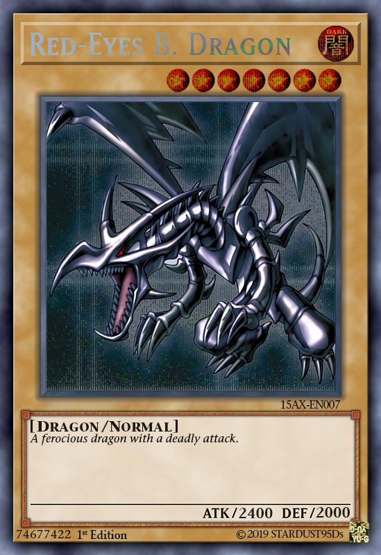 Red Eyes Black Dragon By Stardust95ds Black Dragon Dragon Yugioh Cards