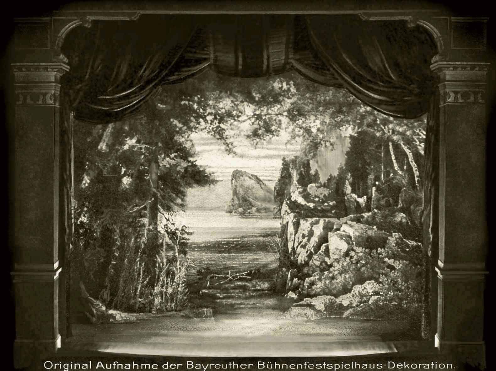 Götterdämmerung  3.Aufzug 1.Bild 1896 Bühnenphoto ca