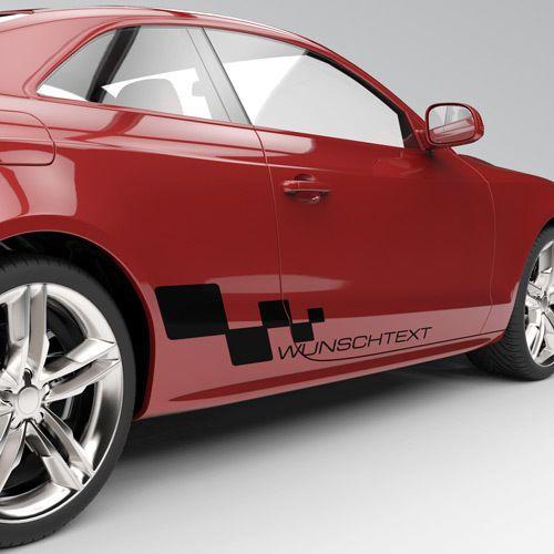 2x Seitendekor Auto Aufkleber Dekorstreifen Seitenstreifen Wunschtext 1081 Ebay Auto Aufkleber Aufkleber Autos