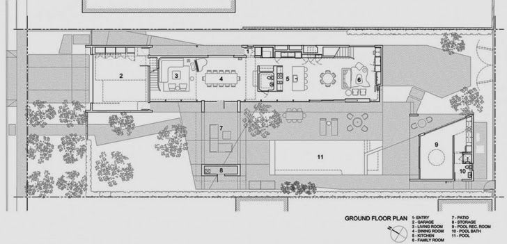 Ground Floor Plan Of The Luxury Modern Family Home In