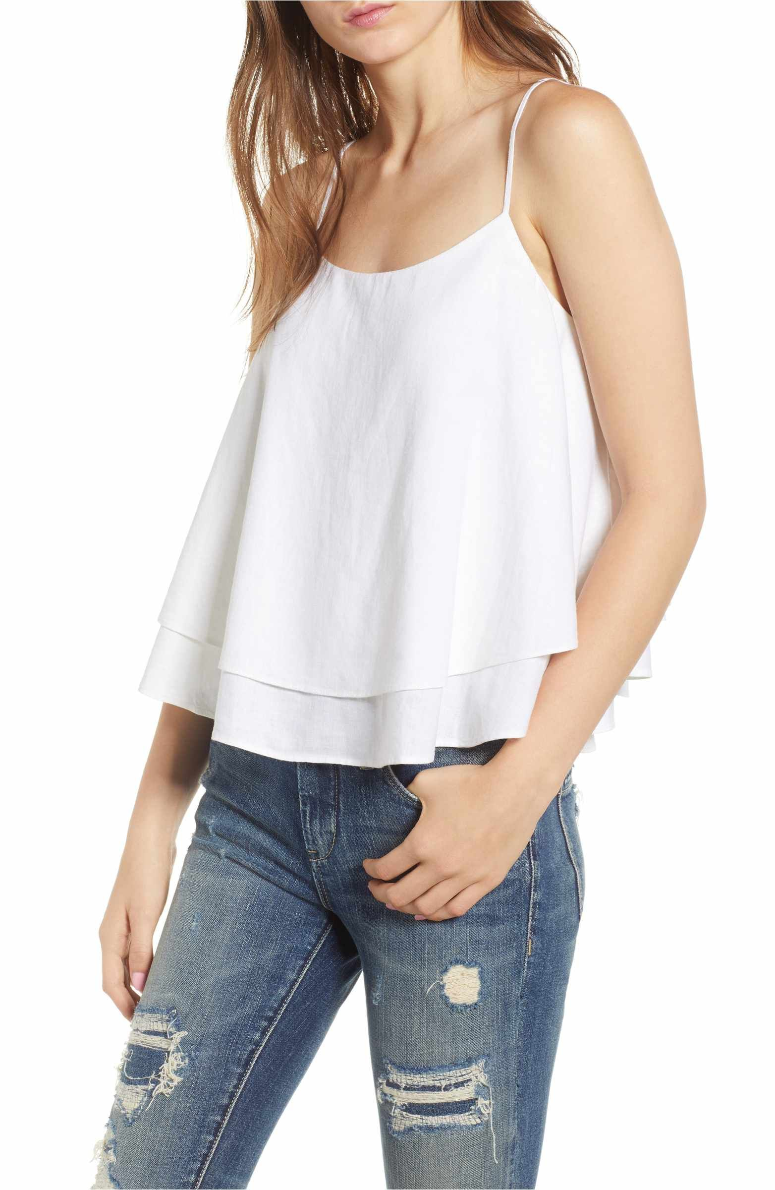 b226aa51e Main Image - BP. Tiered Linen Blend Camisole | Wantable, Stitch Fix ...