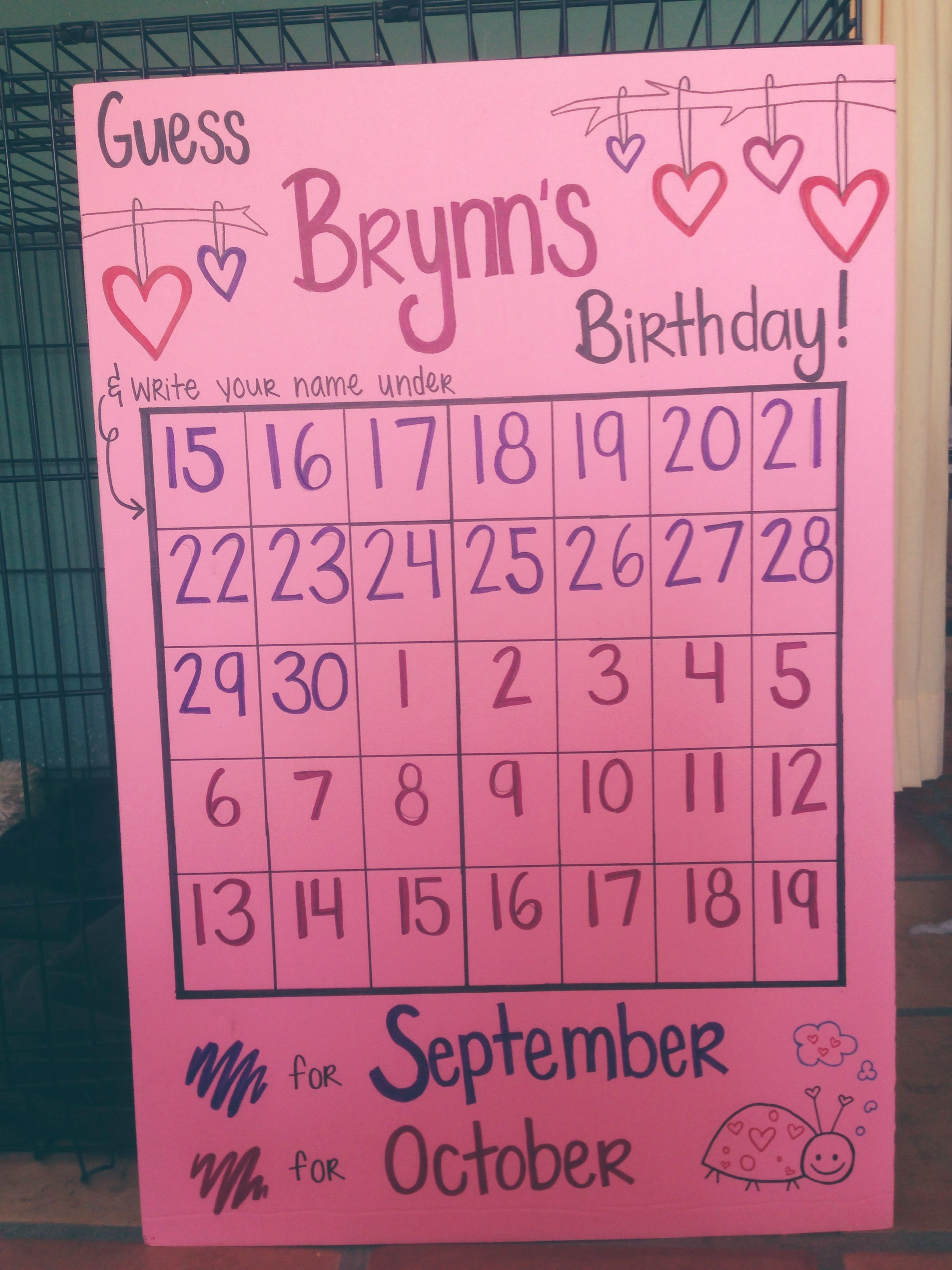 Baby Shower Ideas Without Games baby shower birthday guessing game this would be an easy game to do
