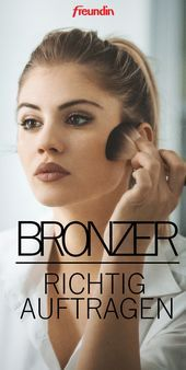 Applying bronzer made easy: picture instructions + tips