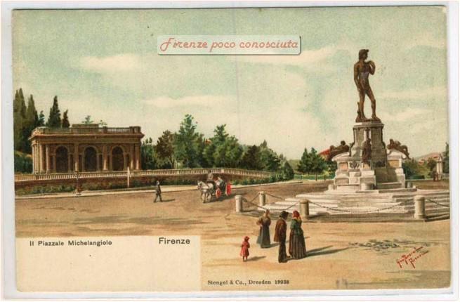 Disegno il piazzale Michelangelo nei primi del 1900