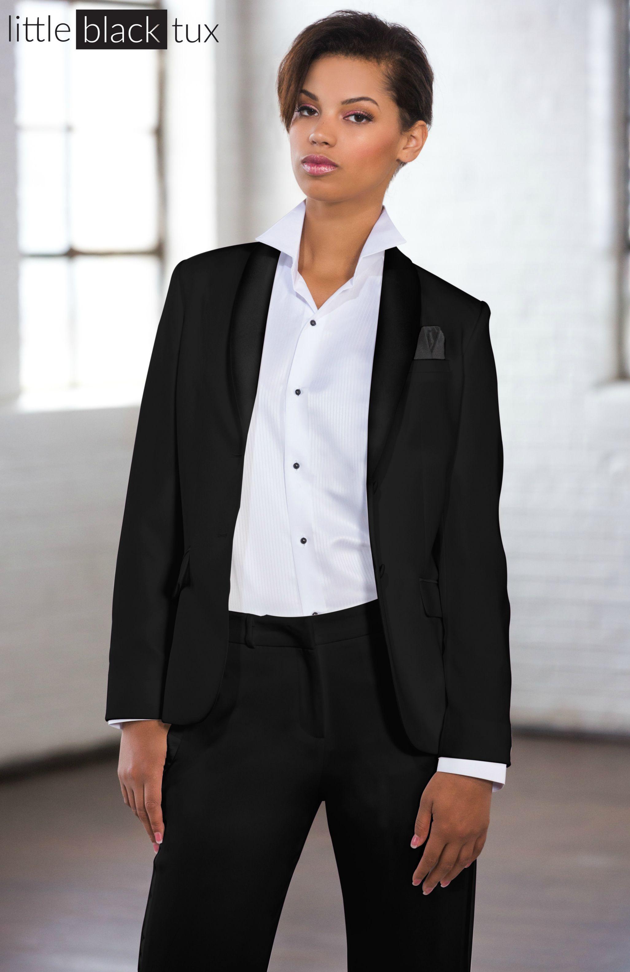 Women S Black Tuxedo Ladytux Shawl Collar Slim Fit Belt Loops