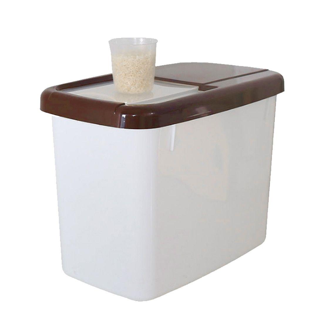 10kg Plastic Kitchen Rice Container Storage Food Cereal Storage Box Bins Sealed Moistureproof Storage Grain With Measuring Cup Rice Container Storage Cereal Storage Cereal Recipes