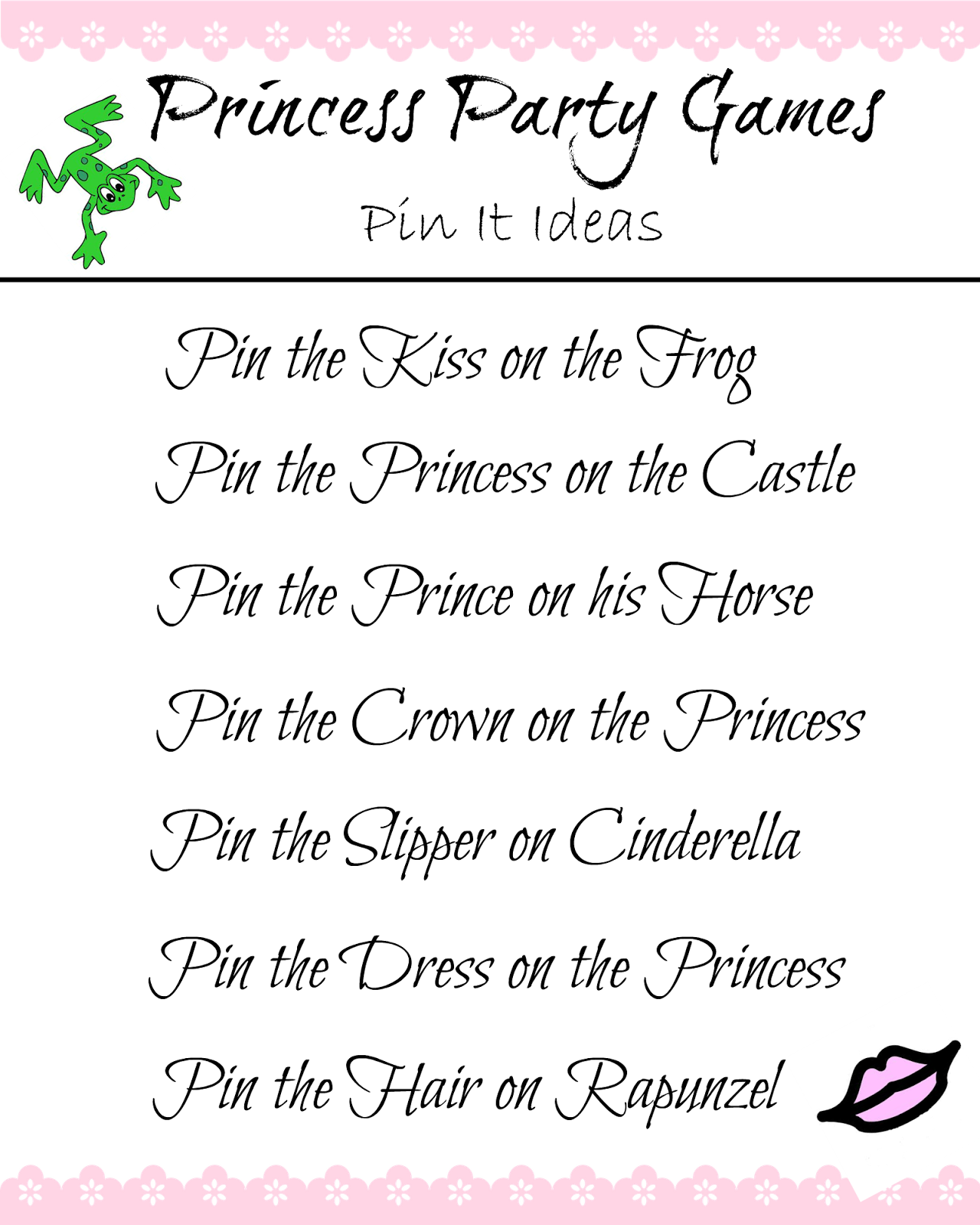 Princess Party Game Ideas A Twist On Pin The