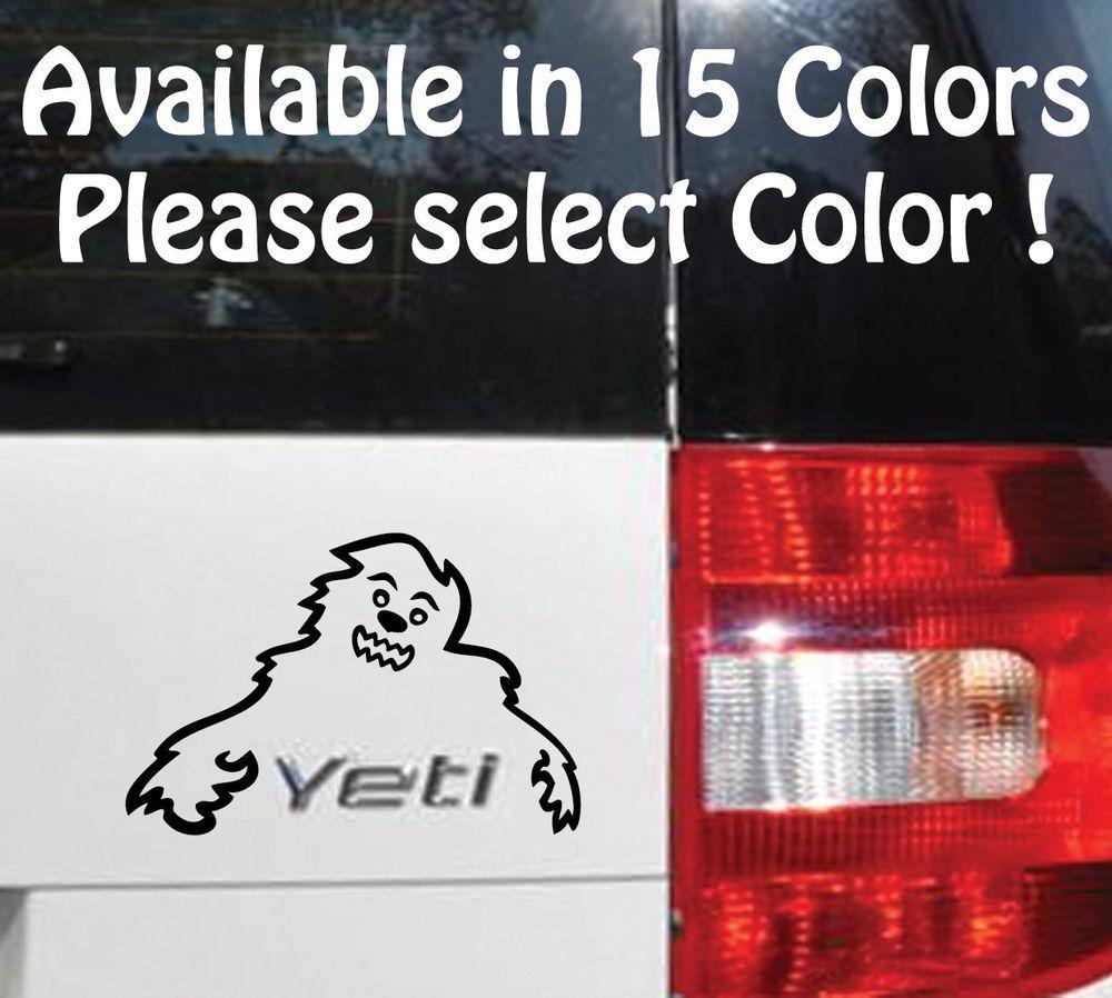 Skoda Yeti Happy Yeti Vinyl Sticker Decal Car Decal Skoda Yeti Fit All Models [ 898 x 1000 Pixel ]