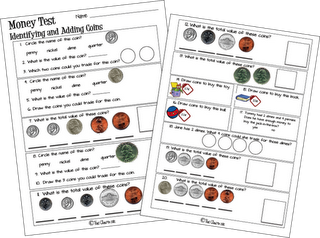 Free money test, identify and count coins | Special Ed Math ...